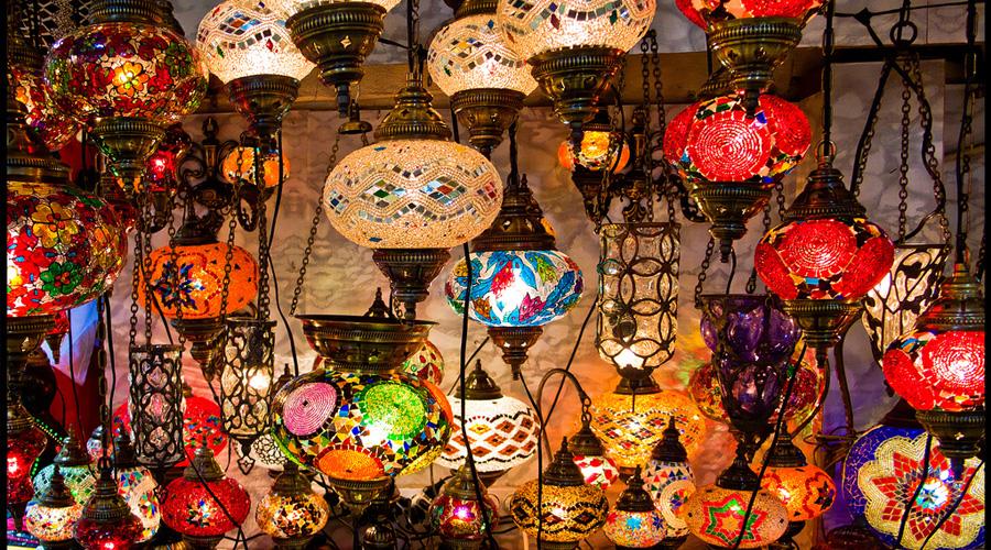 Mosaic Lamps in the Grand Bazaar