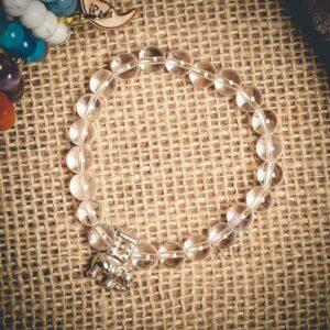 Turkish Crystal Quartz Themed Natural Stone Wristband - Mitr