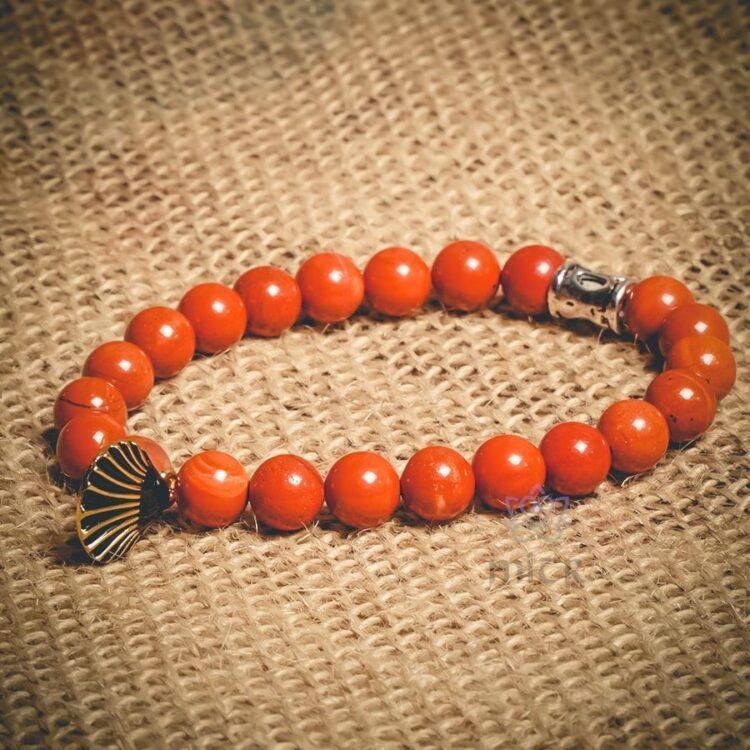 Turkish Jasper Themed Natural Stone Wristband - Mitr