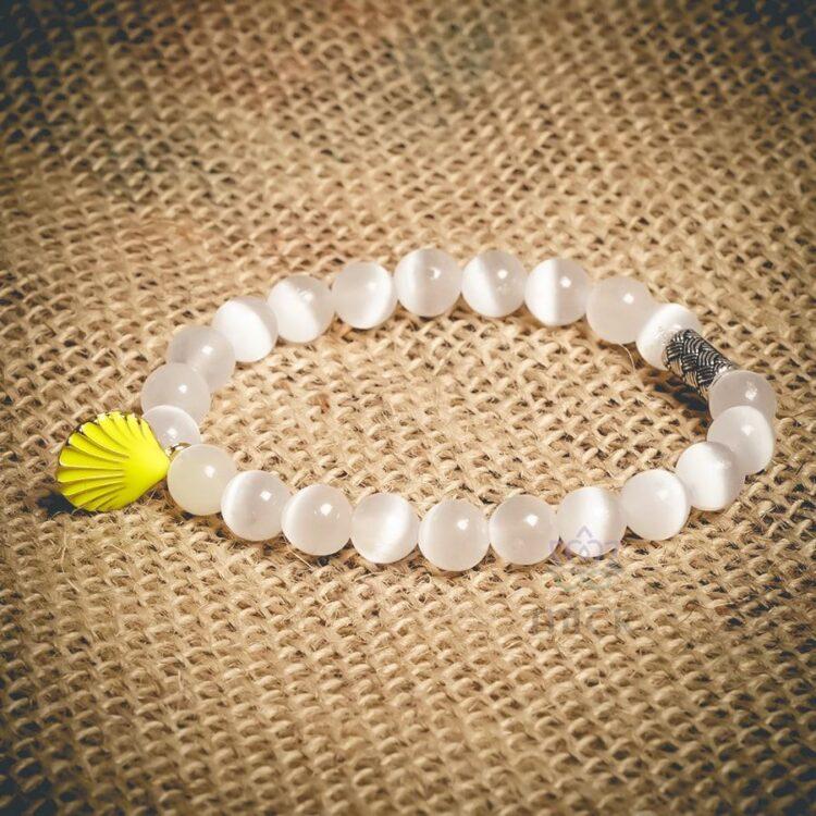 Turkish Selenite Theme Natural Stone Wristband - Mitr
