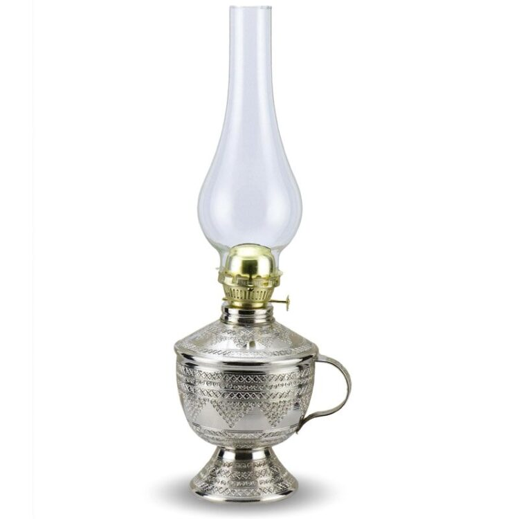 Turkish Copper Oil Lamp Handcrafted - Afitap