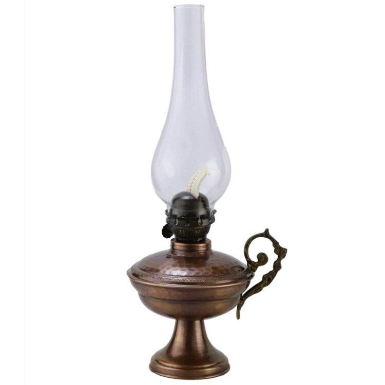 Turkish Copper Oil Lamp Handcrafted - Vezir