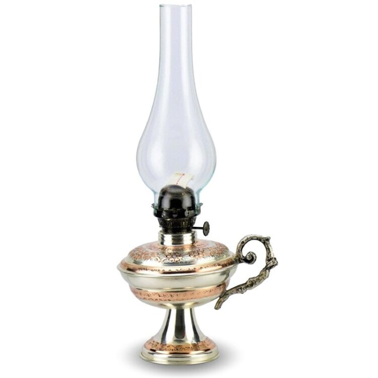 Turkish Copper Oil Lamp Handcrafted - Mirsultan