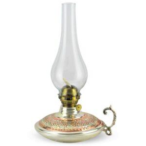 Turkish Copper Oil Lamp Handcrafted - Sadrazam