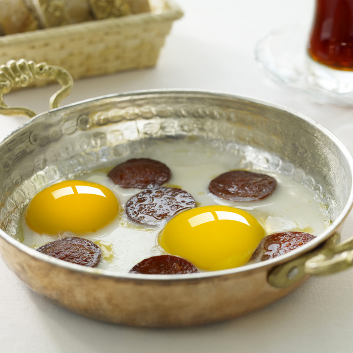 Turkish Copper Egg Pan Handcrafted - Anatolia