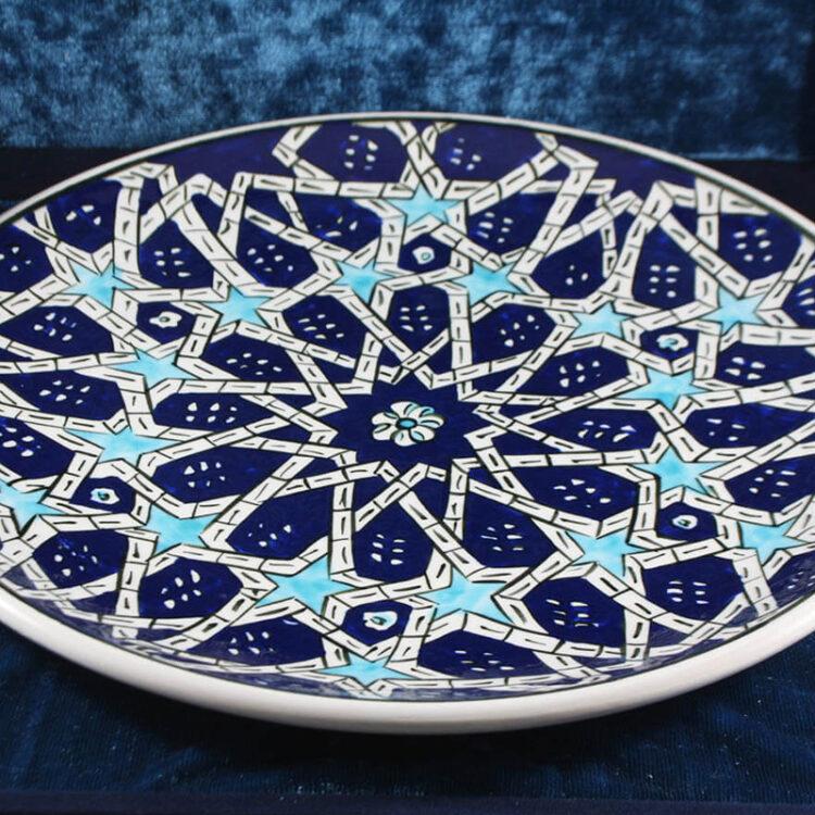 Turkish Iznik Tile Ceramic Plate Handmade - Seljuk Star