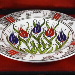 Turkish Iznik Tile Ceramic Plate Handmade - Halic & Tulip