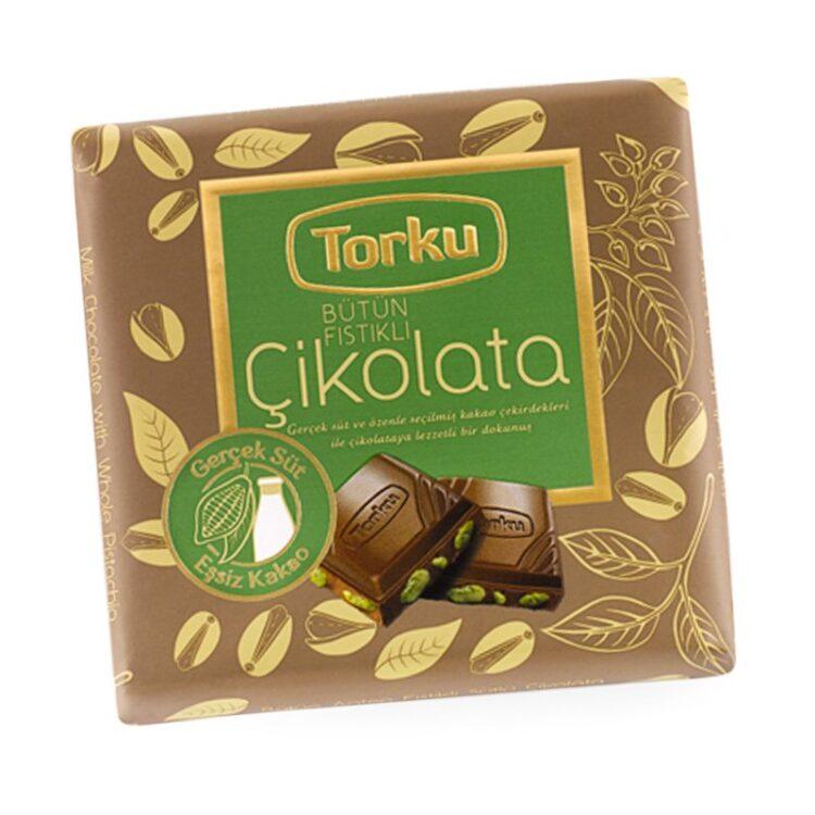 Turkish Chocolate Bar with Antep Pistachio - Torku