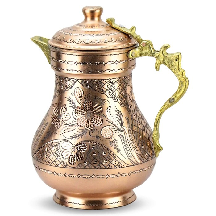 Turkish Copper Water Jug Antique - Miray