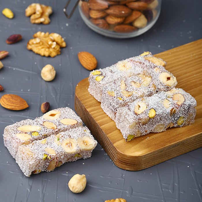 Turkish Delight Oscar with Mixed Nuts