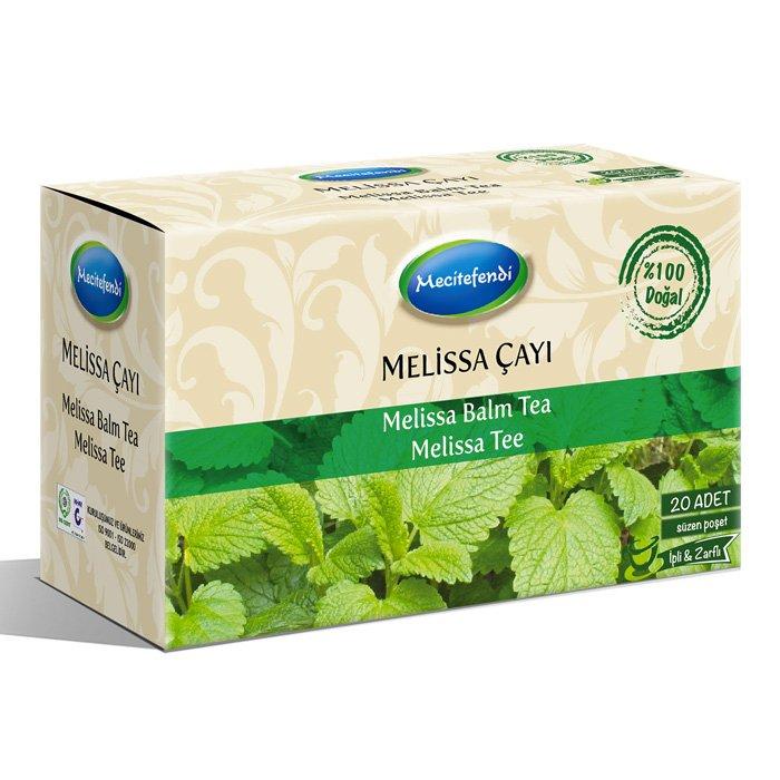 Turkish Natural Melissa Balm Herbal Tea Bags (20 bags)
