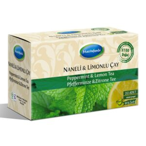 Turkish Natural Peppermint & Lemon Herbal Tea Bags (20 bags)