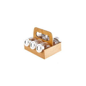 Turkish Luxury Mini Glass Spice Set-7 Pcs - Casa