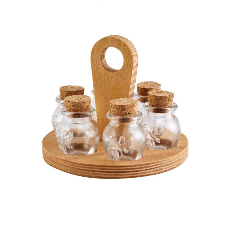 Turkish Luxury Glass Spice Set - 7 Pcs - Runda