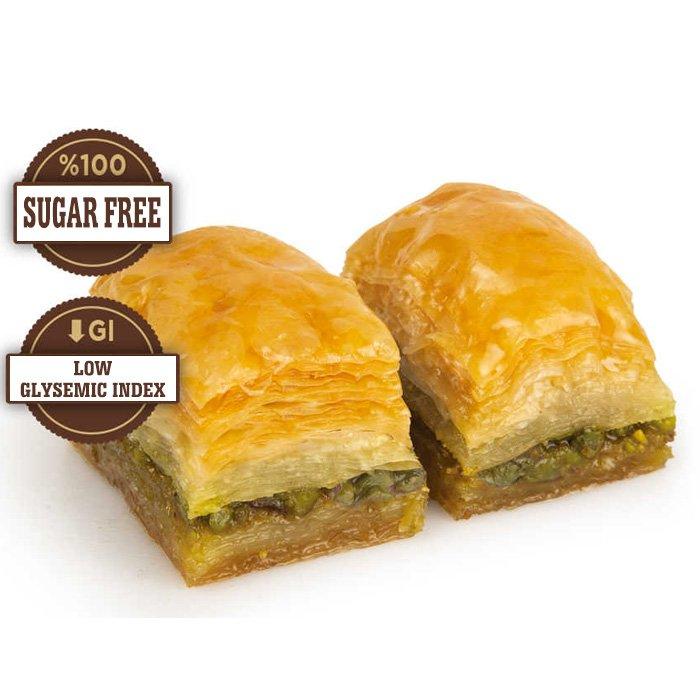 Sugar Free Turkish Baklava with Pistachio/Gulluoglu