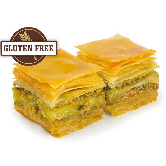Gluten Free Turkish Baklava with Pistachio/Gulluoglu