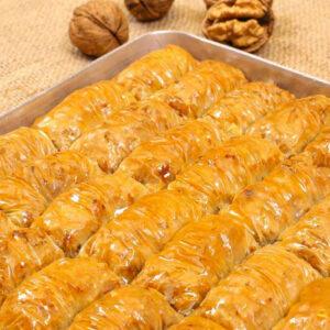 Turkish Baklava with Walnut Wrap (Sarma)