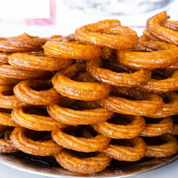Turkish Circle Churros Dessert - Halka Tatlısı