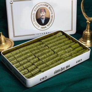 Turkish Baklava Full Pistachio Dürüm in Metal Box - Hafız Mustafa (1.25kg)