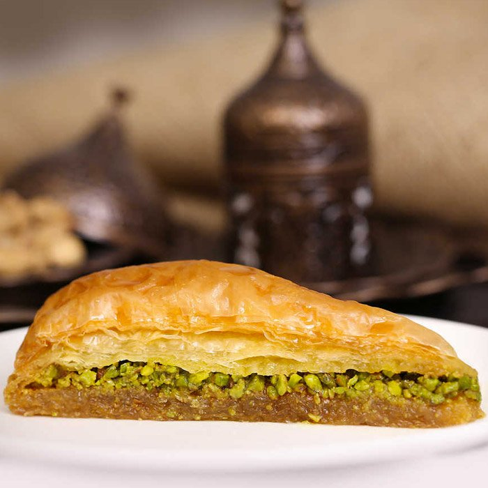 Turkish Baklava with Pistachio Carrot Slice