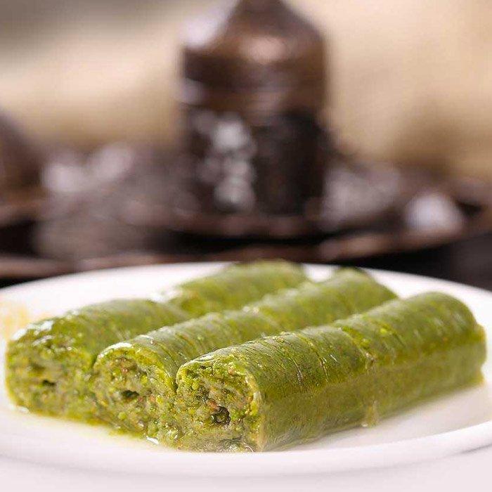 Turkish Baklava with Pistachio Wrap (Sarma)