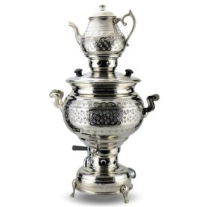 Turkish Copper Samovar Electric and Coal-fired Handcrafted - Araf