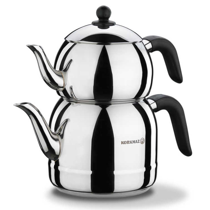 Turkish Teapot Stainless Steel Retro - Korkmaz