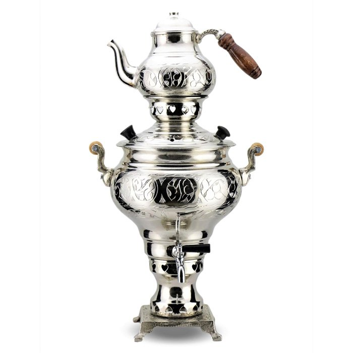 Turkish Copper Samovar Coal-fired Handcrafted - Sultan