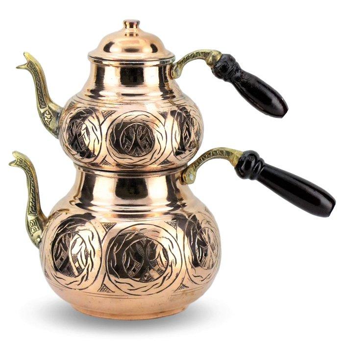 Turkish Copper Tea Pot Handcrafted - Ottoman
