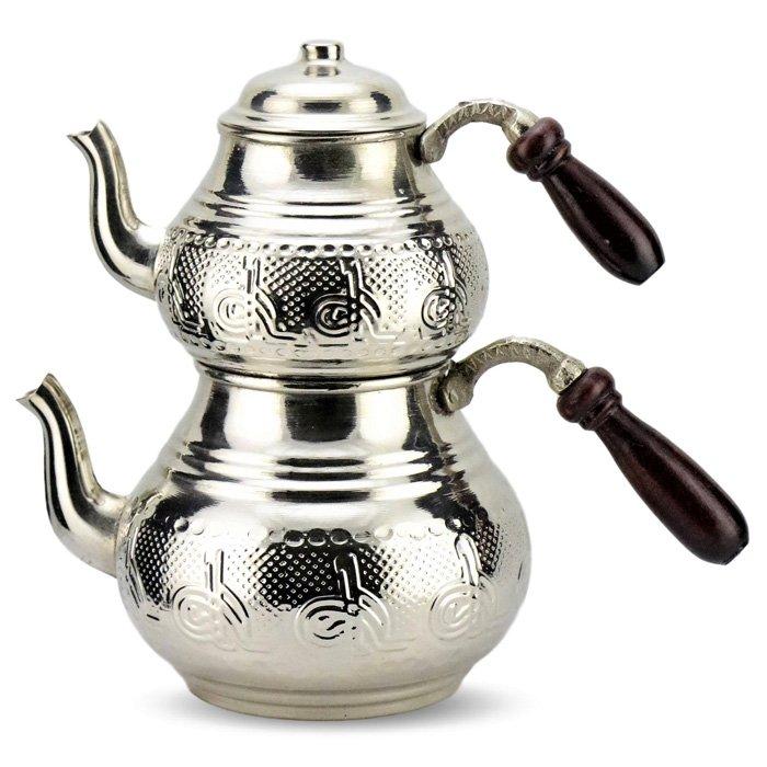 Turkish Copper Tea Pot Handcrafted - Tugra