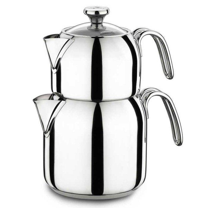 Turkish Teapot Stainless Steel Alia - Korkmaz