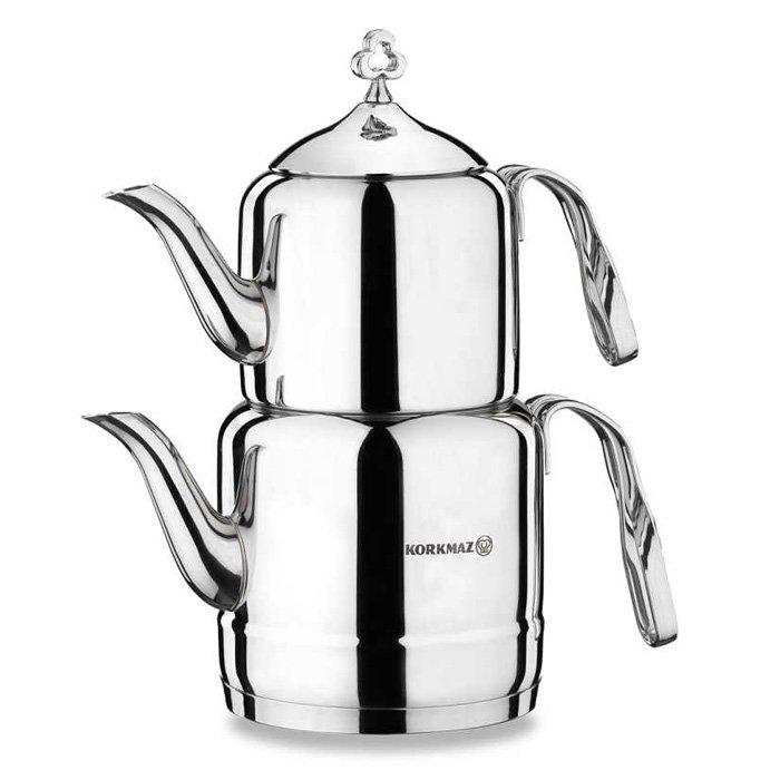 Turkish Teapot Stainless Steel Cintemani - Korkmaz