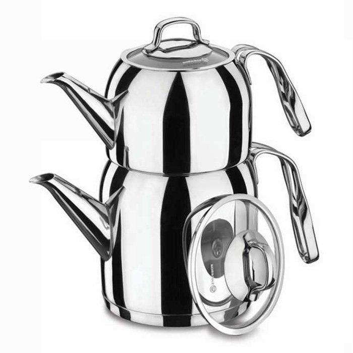 Turkish Teapot Stainless Steel Steama - Korkmaz