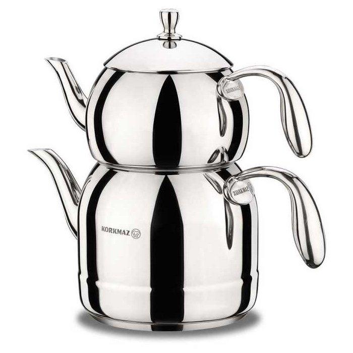 Turkish Teapot Stainless Steel Vinta - Korkmaz