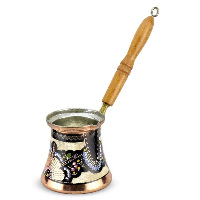 Turkish Copper Coffee Pot Handcrafted - Erzincan