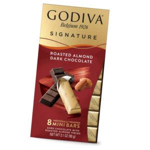 Turkish Dark Chocolate with Roasted Almond Pieces - Godiva