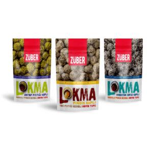 Turkish Lokma Triple Trial Package (Hazelnut, Coconut and Pistachio Coated) - Züber