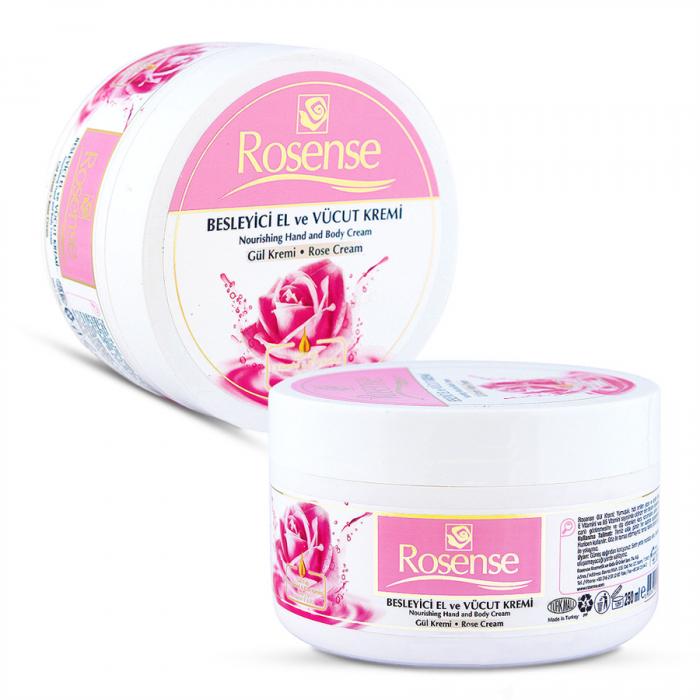 Rosense Nourishing Hand & Body Rose Cream (%100 Natural)