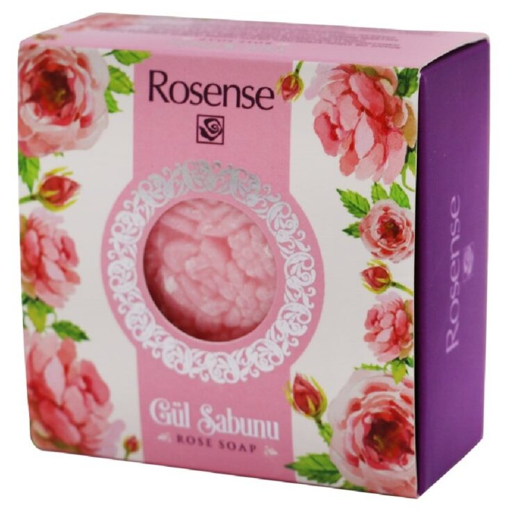 Turkish Natural Care Soap with Real Rose Leaves - Rosense