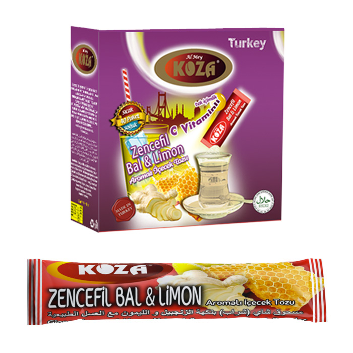 Turkish Ginger, Honey and Lemon Flavored Powder Single-Use Drink (50pcs)