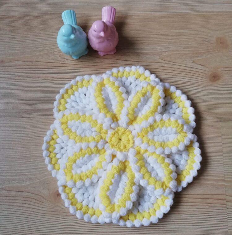 Turkish Handmade Bath Knitting 100% Cotton-Daisy