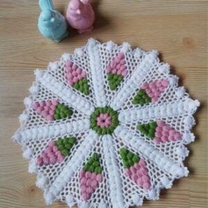 Turkish Handmade Bath Knitting 100% Cotton-Grape