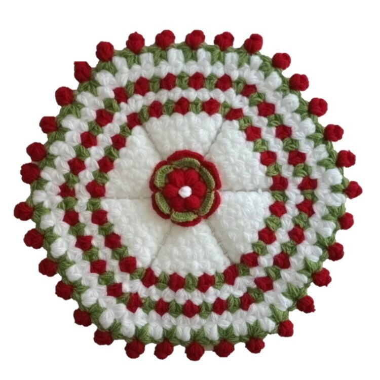 Turkish Handmade Bath Knitting 100% Cotton-Rose
