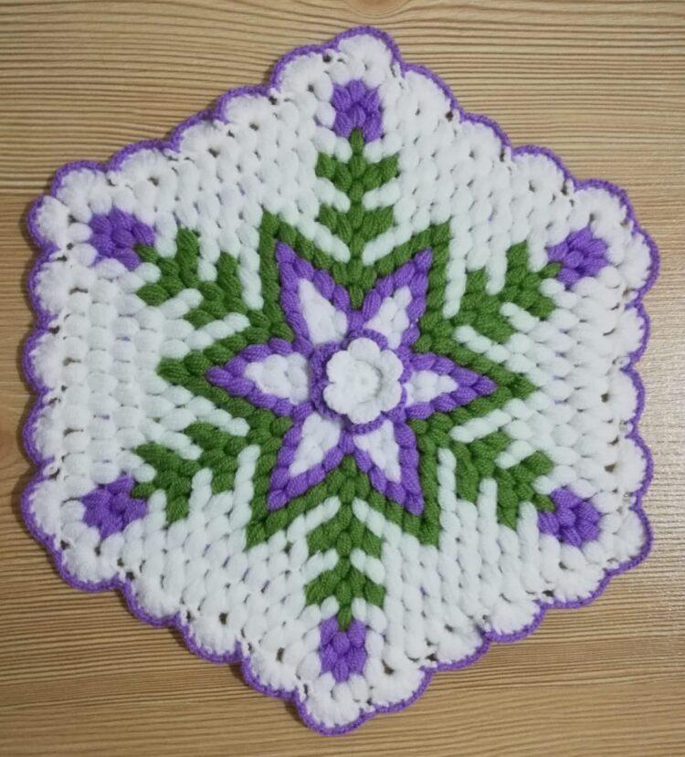 Turkish Handmade Bath Knitting 100% Cotton-Star