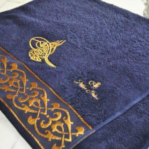 Nilhan Sultan Ottoman Turkish Towel (Dark Blue)