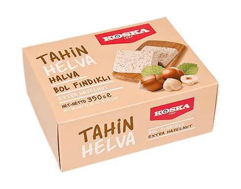 Turkish Halva with Extra Hazelnut (Boxed)