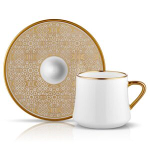 Turkish Coffee Cup Bone China - Sufi Ottoman (Set of 6)