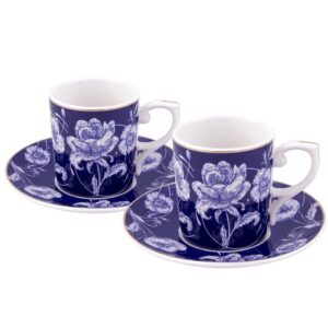 Turkish Coffee Cup Porcelain - Empire Blue (Set of 6)