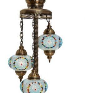 Turkish 3 Piece Mosaic Corner Lamp - Gazel