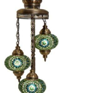 Turkish 3 Piece Mosaic Corner Lamp - Yeşim